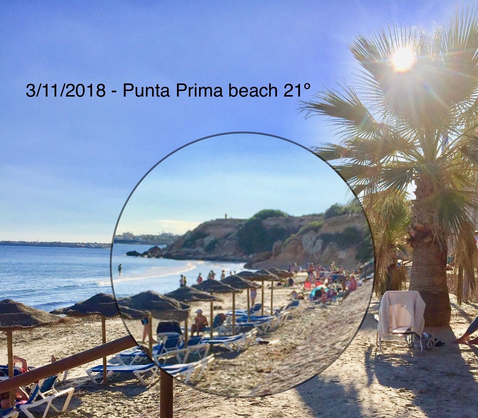 Strand Punta Prima november 2018